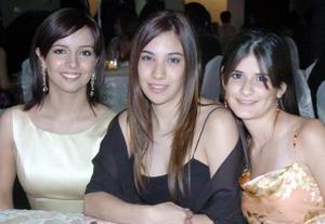Gabriela García, Andrea Salazar y Alejandra Romero.