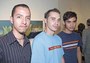 Alberto Vita, Xavier Salmón y Gustavo Borroel.