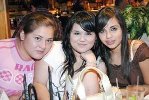 Cinthia Triana, Lorena Moreno y Alis Gutiérrez