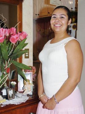Wendy Triana Burguette, durante su festejo de cumpleaños.