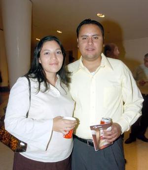 Cristina Ortega y Arturo Llamas.