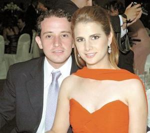 Alberto Fernández y Nadia Giacomán..