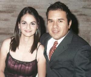 Carmen Lucía Alvarado y Rodrigo Salazar, en la boda de David Muñoz y Alejandra Guerrero.