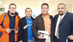 Carlos González, Alfonso Muro, Fernando Fuentes y Emmanuel Ham viajaron con destino a Inglaterra y Barcelona.