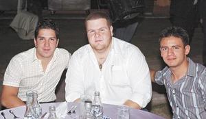 Rosy Montes de Oca, Jorge Giacomán y Alfredo García.