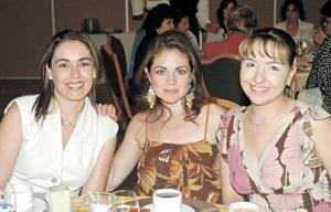 Claudia de Garza, Daniela  de Medina y Mariana López.