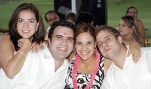 <b>13 de octubre de 2005</b><p> Lily Flores de Eichler, Kristian Eichier, Adriana Montemayor y Mario Díaz.