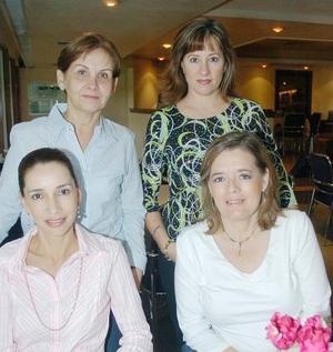 Ema de la Peña, Gabriela  Natera, Georgina de Mena y Pilar de Marroquín.