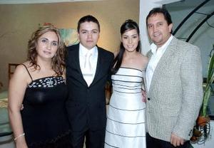 Lupita Soto de Velázquez, Luis Pulido, Nelly Blackaller y Fernando Velázquez.