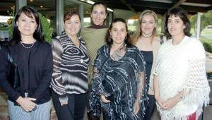 <B>15 de octubre 2005</b><p>  Susana Cuan, Alejandra Cardenas, Ana Barba, Martha Correa, Rosy González y Elsy Gutiérrez.