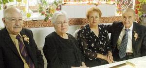José Leyer, Ana María de Leyer, María de Jesús Cabarga y Manuel Cabarga.
