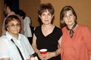 Olga Espino, Norma Franch y Margarita Lascuráin.