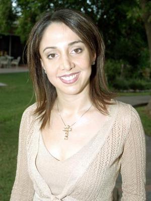 Bárbara Mijares Campa, en la despedida de soltera que le fue ofrecida en días pasados.