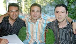 Carlos Espinoza, Blas Urraza y Flavio López.