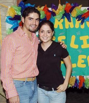 Franco de la Fuente Webb festejó su cumpleaños con una reunión que le organizó Karla Torres Llamas.