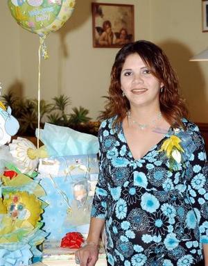 Gabriela López de Becerril espera el nacimiento de su segundo bebé.