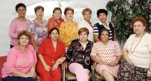 Bertha Alicia , Hilda Margarita, Hortensia, Sofía, Rosy, María Elena, Hermila, Anita, Esther y San Juana, en reciente convivio social.