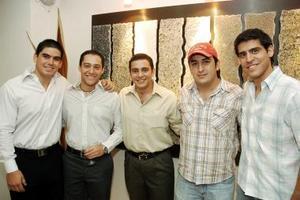 <b>18 de octubre de 2005</b><p> Abelardo de la Fuente, Manuel Nahle, Bobe Nahle, Beto Herrera y Rogelio Martínez.