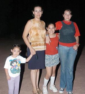 Carla Daniela, Diana, Sofía y Adriana Plascencia.
