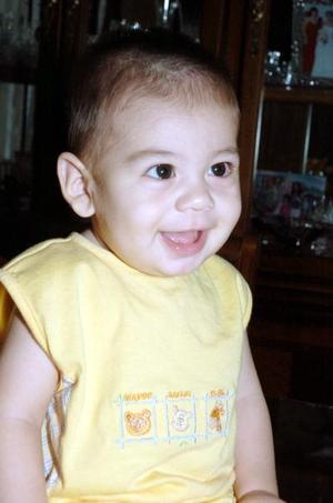 Kevin Román Burguette, captado a la edad de siete meses.