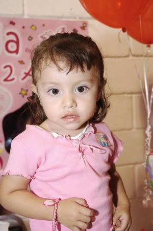 Valeria Borrego en su fiesta de cumpleaños.