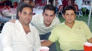Jorge Guajardo, Felipe Pérez y Javier Castro, captados recientemente.