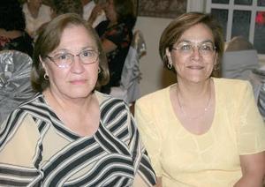 <b>20 de octubre de 2005</b><p> Socorro Valdés y María Guadalupe Jimenéz