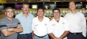 Francisco Saldaña, Luis Ríos, Pedro Fuentes, Pedro Rivas y Carlos Izaguirre.