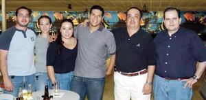 Gabriel Ramírez, Mónica Martínez, Cinthia Ávila, John Wilkie, Rodrigo  Alvarado y Manuel García.