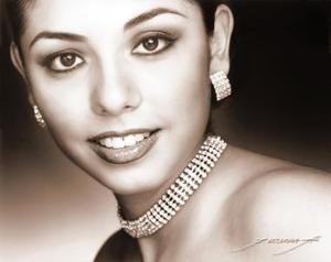 <b>21 de octubre de 2005</b><p> Srita. Karla Gurrola, en una foto de estudio de Flavio Becerra.