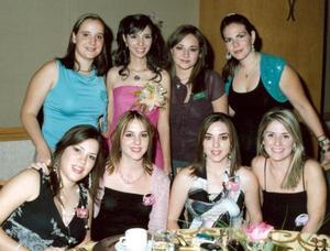 Cristy Rosas de Dovalina, Doris Saldaña, Priscila Álvarez  de Jaime, Briscia Sada, María Elena Cedillo, Sofía Garza de Marcos, Susana Garza y Sandy de Orozco.