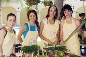 Ana Tere García, Brenda Artigas, Mónica Salmón y Cecilia Fernández.