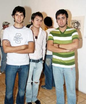 Carlos Díaz, Jorge Lugo y Carlos Acosta.