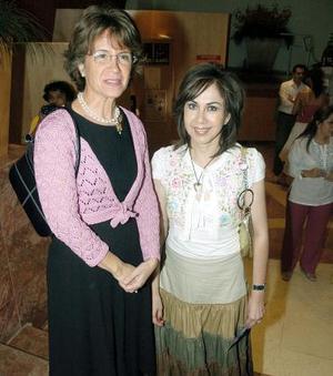 Ethel Moreno y Carmen Madero.