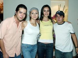 José Luis Villarreal, Karina Casco, Alicia Ganem e Hiram Reséndiz.