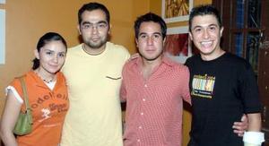 Norma Hernández, Alfredo Esparza, Luis Felipe Madeira  y Andrés Simentales.