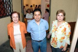 María Elena de Nahle, Miguel Canseco y Velia Ruiz.
