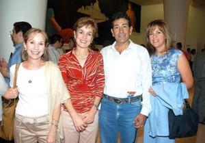 Marilis Garza, Rosario Fernández, Gabriel Aguilar y Adriana Aguilar.