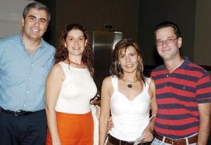Ricardo Muñoz y Karla von Bertrab de Muñoz, Ana Cristina de Inzunza y Pablo Inzunza.