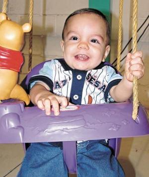 Diego Mata Acosta, captado el día de la piñata que le ofrecieron.