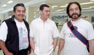 José Luis Ramos, Ángel  Miravete t Reynaldo Sánchez viajaron al DF.