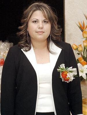 Ruth de la Torre de la Torre, captada en la despedida que le ofrecieron por su próximo matrimonio con Ricardo Ruiz Chávez.