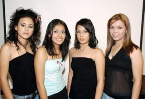 Montserrat Gómez Salmón, Cynthia Lira, Mariana Solís Campos y Bianca Nayeli Torres Mata.