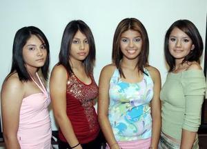 Gabriela Ávalos, Claudia Cabrera, Ángela Lorena Guerra y Rocío Torres.