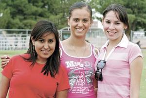Lilia Sandoval, Mónica Hernández y Pamela Navarro.