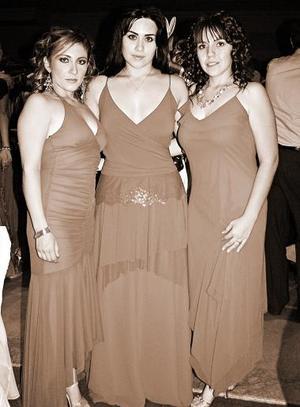 Eloísa Necochea, Cecilia Murga y Gaby Mijares.