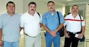 Roberto González, Ricardo Hernández, Cruz González y Juan Delgado viajaron a Mazatlán.
