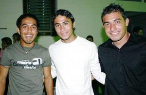 Rogelio López, Agustín Herrera y René Carrillo.