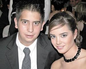 Marcelo Valdés y Luisa Pérez Veyán, en una recepción.