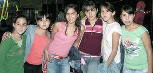 Frida González, Cokina Magaña, Paulina Veyán, Mariana Mijares, Ana Paula Bravo y Paty Berumen.